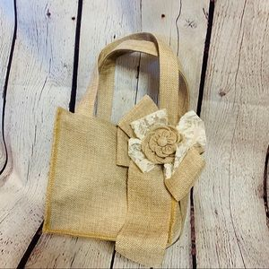 Hobby Lobby His & Hers Burlap Flower Girl Basket